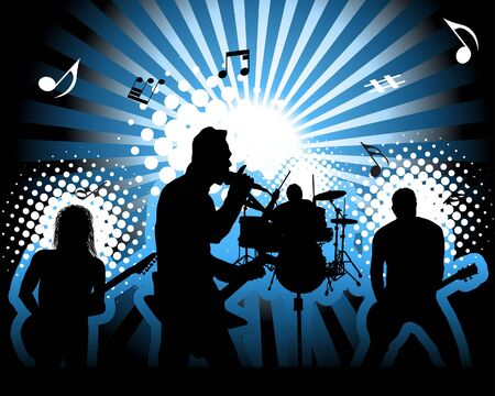Rock group. Vector illustration for design use. Stock Vector - 6522036