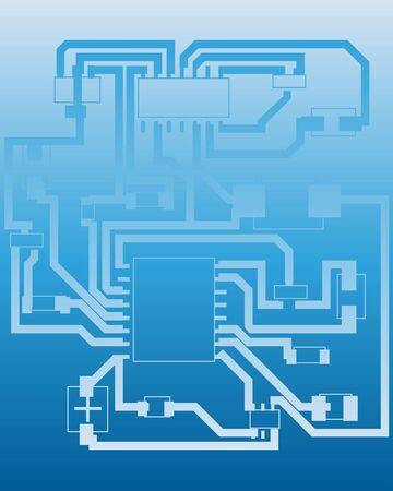 Electric scheme for design use. Vector illustration. Stock Vector - 6522023