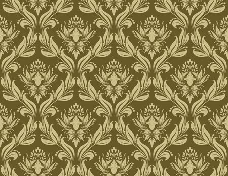 Damask seamless background.  For easy making seamless pattern just drag all group into swatches bar, and use it for filling any contours. Stock Vector - 6531414