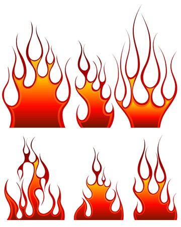 resplandor: Conjunto de iconos de fuego para uso de dise�o Vectores