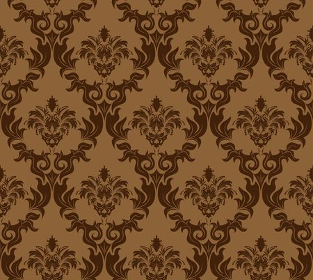 Damask seamless background.  For easy making seamless pattern just drag all group into swatches bar, and use it for filling any contours. Stock Vector - 6581270