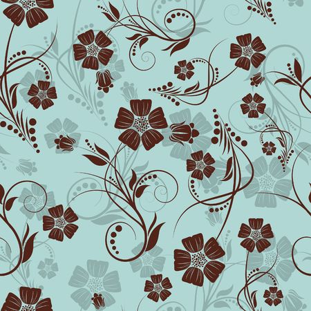 Seamless  floral background. For easy making seamless pattern just drag all group into swatches bar, and use it for filling any contours. Stock Vector - 6581287