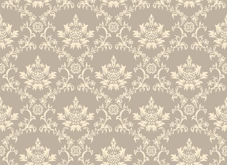 Damask seamless background.  For easy making seamless pattern just drag all group into swatches bar, and use it for filling any contours. Stock Vector - 6648660