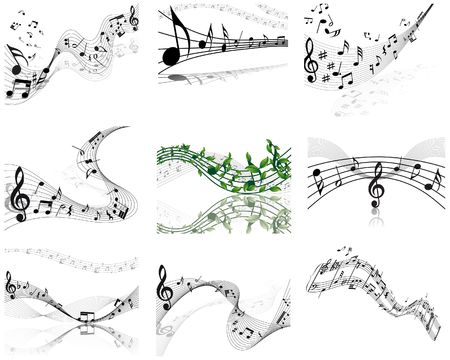 musical notes staff background for design use Stock Vector - 6648646