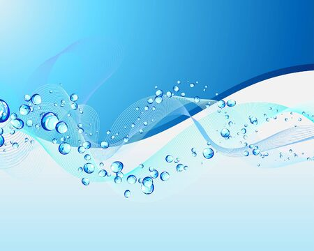Abstract water  background with bubbles of air Stock Vector - 6648664