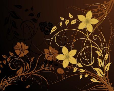 in use: Floral background for design use. illustration.