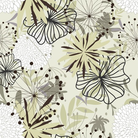 Seamless floral background. For easy making seamless pattern just drag all group into swatches bar, and use it for filling any contours. Stock Vector - 7117129