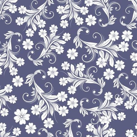 filling: Seamless floral background. For easy making seamless pattern just drag all group into swatches bar, and use it for filling any contours.