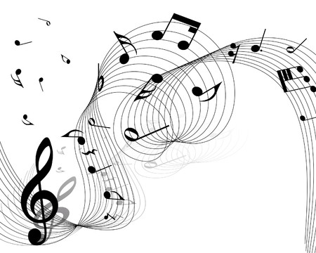 musical notes staff background for design use Vector