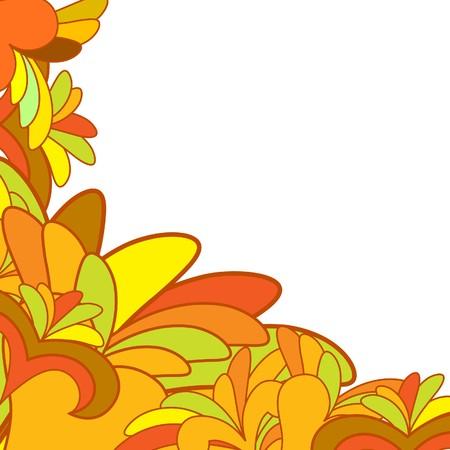 creative beauty: Floral background for design use. illustration.