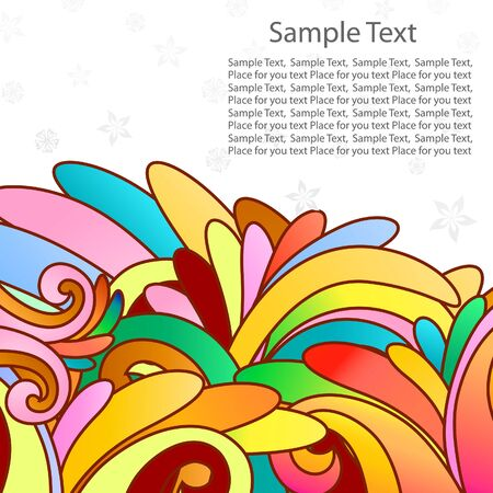 Floral background for design use. illustration. Stock Vector - 7249193