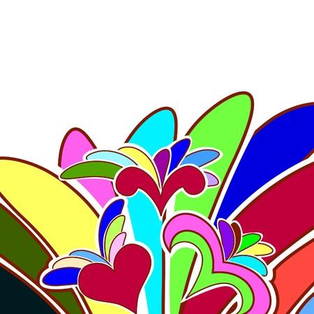 Fondo floral para uso de diseño. ilustración.
