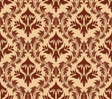 Damask seamless  background.  For easy making seamless pattern just drag all group into swatches bar, and use it for filling any contours.