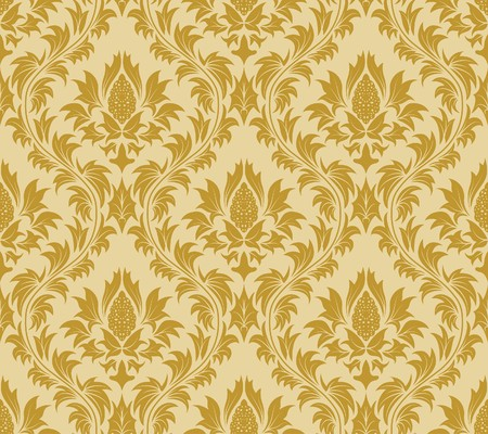damask seamless: Damask seamless  background.  For easy making seamless pattern just drag all group into swatches bar, and use it for filling any contours.