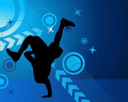 Disco dancer.  illustration for design use. Vector