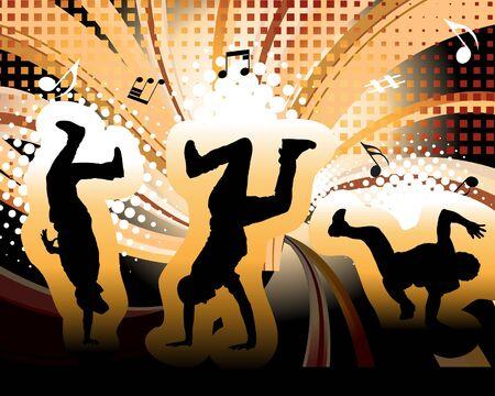 Disco dancer. illustration for design use. Stock Vector - 7249184