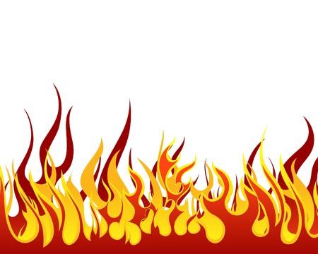 flammes: Arri�re-plan de feu Inferno pour utilisation de conception Illustration