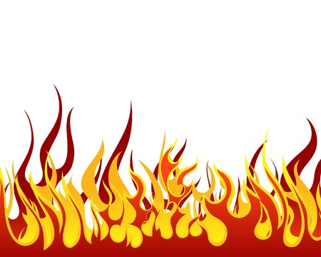 Inferno fire  background for design use Illustration