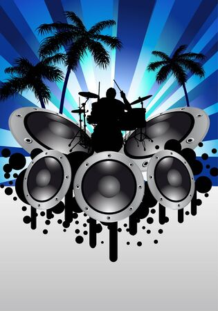 Rock group drummer.  illustration for design use. Stock Vector - 7249186