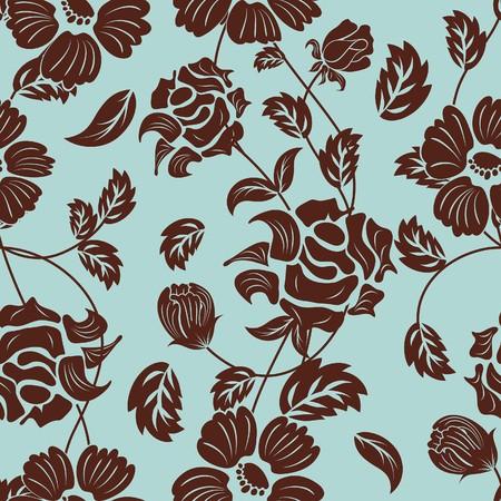sketch pattern: Fondo floral transparente. Para f�cil trama transparente haciendo s�lo Arrastre todos los grupo de en la barra de muestras y utilizarlo para llenar cualquier contornos.