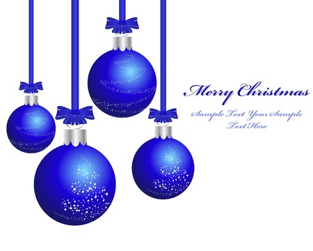 fir tree balls: Beautiful  Christmas (New Year) background for design use Illustration