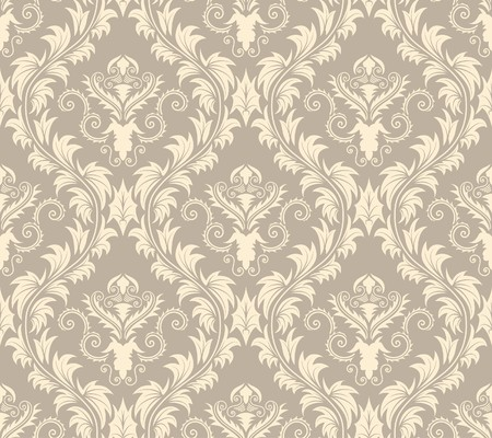 Damask seamless background.  For easy making seamless pattern just drag all group into swatches bar, and use it for filling any contours. Stock Vector - 7296322