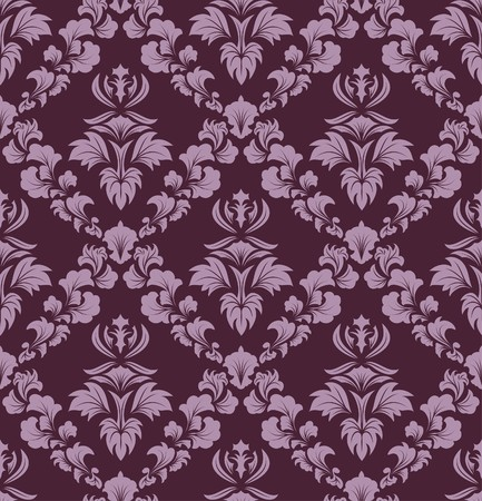 victorian textile: Damask seamless  background.  For easy making seamless pattern just drag all group into swatches bar, and use it for filling any contours.