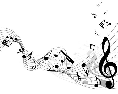 note musicali: Note musicali di sfondo personale per l'utilizzo di design Vettoriali