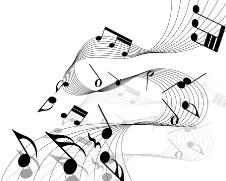musical notes staff background for design use Stock Vector - 7296199