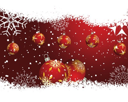 Beautiful  Christmas (New Year) background for design use Stock Vector - 7296333