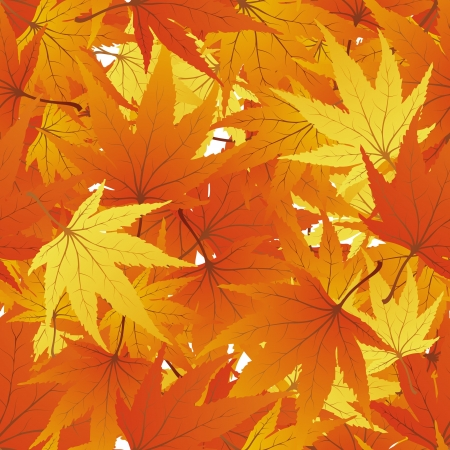 Maple seamless foliage. For easy making seamless pattern just drag all group into swatches bar, and use it for filling any contours. Vector