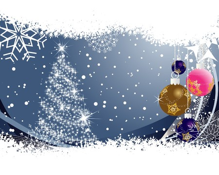 year curve: Beautiful  Christmas (New Year) background for design use Illustration