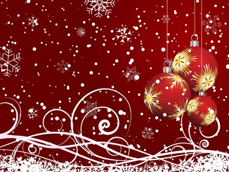 Beautiful Christmas (New Year) background for design use Stock Vector - 7524377
