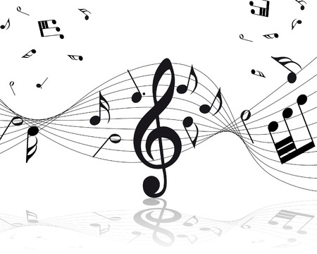 notes musicales: musique de fond du personnel des notes pour utiliser la conception