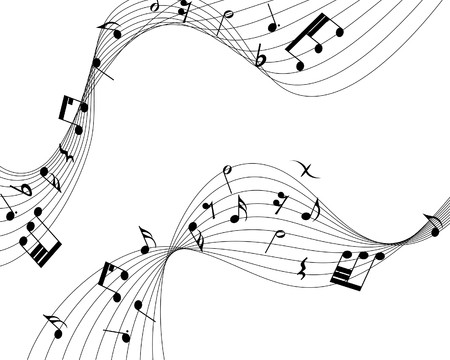 musical notes staff background for design use Stock Vector - 7524366
