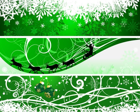 Christmas (New Year) banners for design use Stock Vector - 7561750
