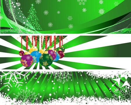 Christmas (New Year) banners for design use Stock Vector - 7561763