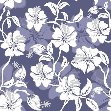 remplissage: Arri�re-plan floral transparente. Facile pattern transparente prise juste faites glisser groupe tous les dans la barre de nuanciers et utilisez-le pour toute les contours de remplissage.