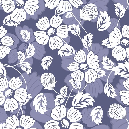 group pattern: Seamless  floral background. For easy making seamless pattern just drag all group into swatches bar, and use it for filling any contours. Illustration