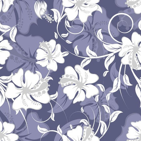 Seamless  floral background. For easy making seamless pattern just drag all group into swatches bar, and use it for filling any contours. Illustration