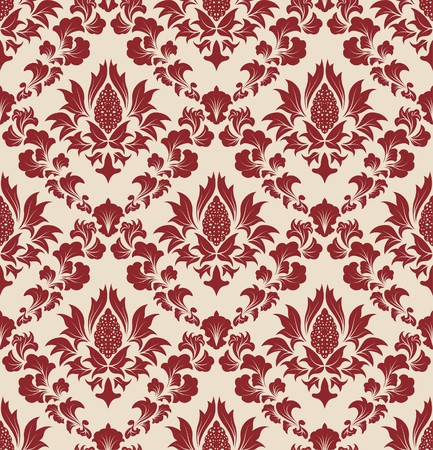 seamless damask: Damask seamless   background.  For easy making seamless pattern just drag all group into swatches bar, and use it for filling any contours.