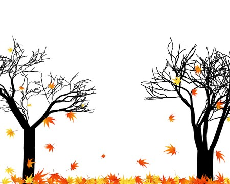Pattern of autumn  maples leaves.  illustration. Stock Vector - 7685226