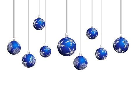 christmas ornaments: Beautiful Christmas (New Year) background for design use Illustration