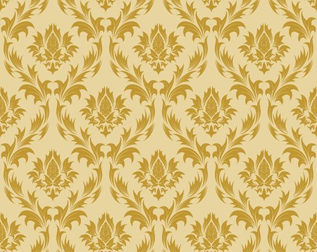 venetian victorian: Damask seamless background.  For easy making seamless pattern just drag all group into swatches bar, and use it for filling any contours.