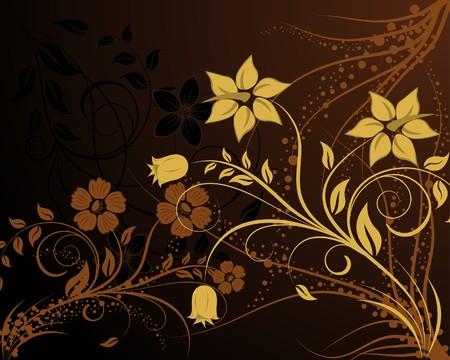 Floral background for design use. illustration. Stock Vector - 7685189