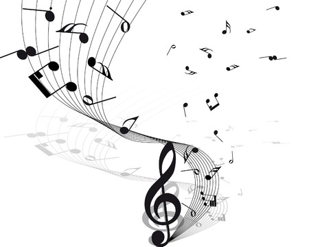 notes music: musical notes staff background for design use