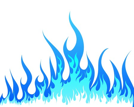 blue flames: Inferno fire   background for design use
