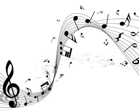 notes de musique: musique de fond du personnel des notes pour utiliser la conception