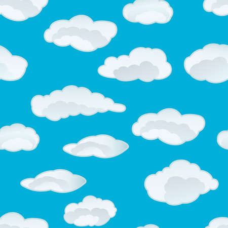 Seamless fluffy cloudy background for design use photo