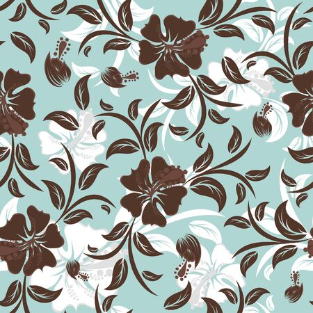 Seamless   floral background. For easy making seamless pattern just drag all group into swatches bar, and use it for filling any contours. photo